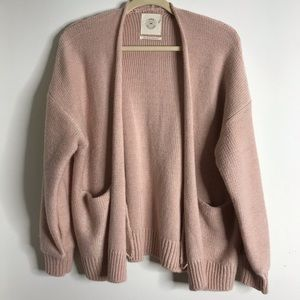 Urban Outfitters Blush Open Front Knit Cardigan